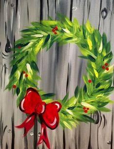 Wreath - Wine & Canvas